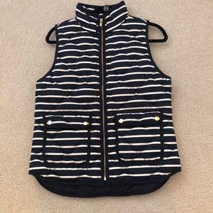 EUC💙 J. Crew Navy Stripe Vest